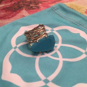 Kendra Scott turquoise ring- size 6